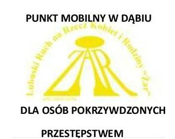 Punkt Mobilny w Dąbiu dla osób pokrzywdzonych przestępstwem